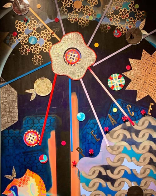 Paintings by Christina Saj Fine Art and Design seen at Ukrainian Museum, New York - Re:Create (interactive artwork)