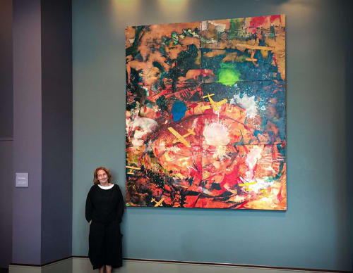 Paintings by Virginia Bradley Art seen at Pennsylvania Convention Center, Philadelphia - Ascension