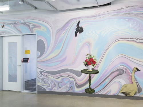 Murals by Ellierex seen at Facebook, San Francisco - Facebook Mural II