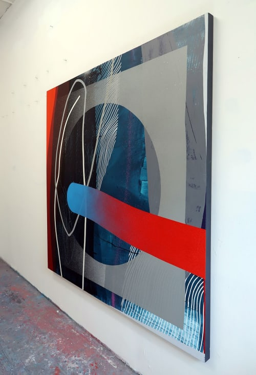 Paintings by Erik Otto seen at Center for Advancement of Contemporary Art, Brooklyn - Perfect Imbalance