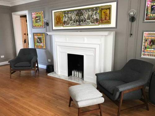 Art & Wall Decor by BRUCE SAMIA art&design at Private Residence, Chicago - custom designed digital collage installation