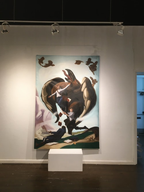 Murals by Arthur Haywood seen at Cheltenham Center For The Arts - Lifted