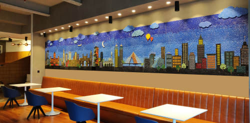 Murals by A & T Cunha Mosaic seen at One Indiabulls Centre, Mumbai - Mumbai Meri Jaan