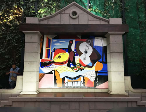 Murals by Murals by Georgeta (Fondos) seen at Private Residence, Mexico City - Residential mural