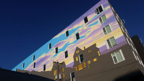 Murals by David Carmack Lewis seen at The Fowler Apartments, Boise - Absence & Presence