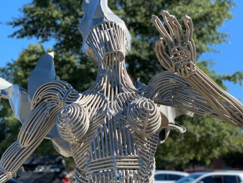 Public Sculptures by Jack Howard-Potter seen at Downtown Goldsboro Development Corporation, Goldsboro - Valkyrie