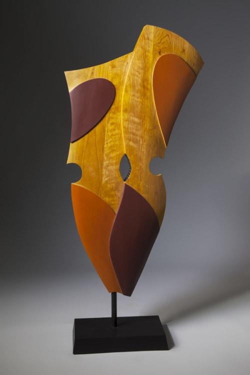 Sculptures by Erik Wolken seen at Artist Studio, Chapel Hill - Human Shield #1