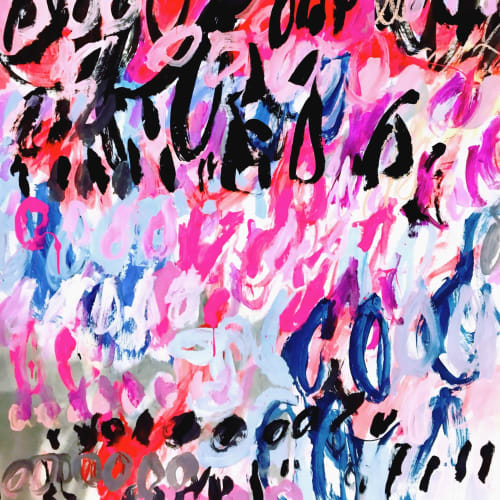 Paintings by Ewa Budka seen at Christian Siriano The Curated NYC, New York - New Heaven