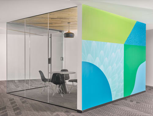 Murals by Chad Kouri seen at Sprout Social HQ, Chicago - Nature & Technology Murals
