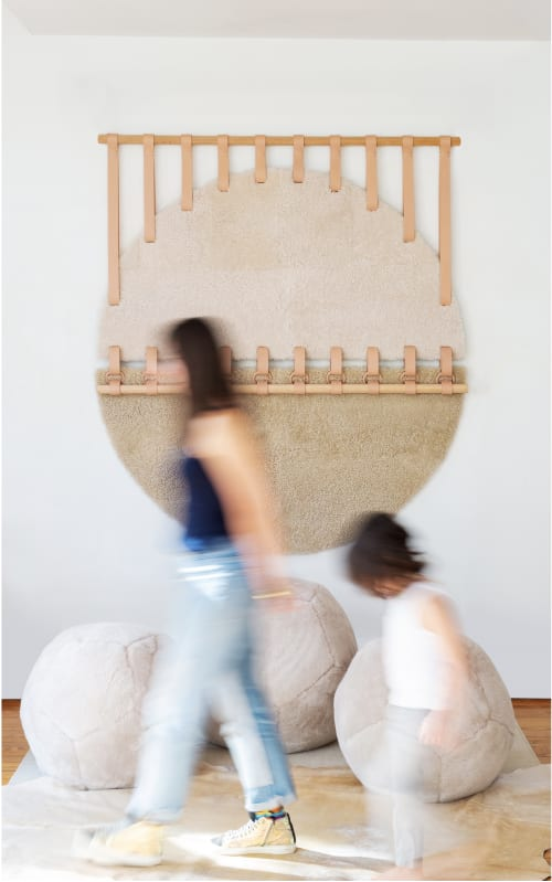 Shoreline Round Tapestry X   Wall Hangings by Moses Nadel