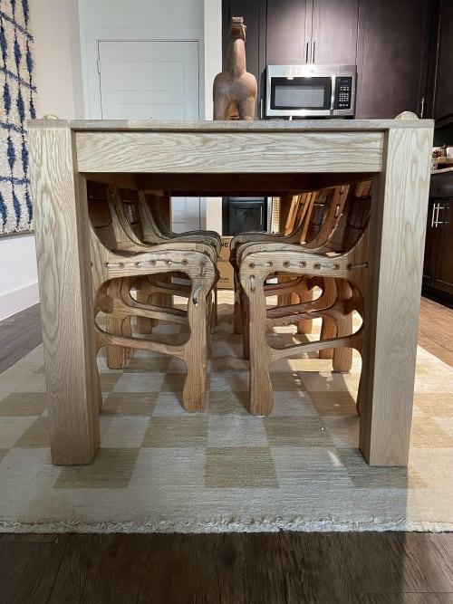 """Tables by Woods By Woods, LLC seen at Private Residence, Dallas - """"The Shea"""""""