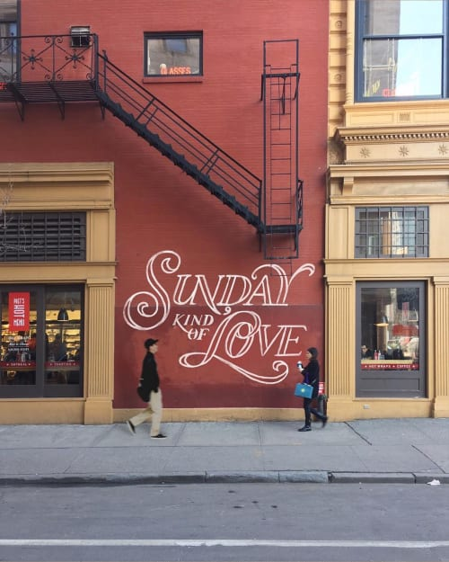 "Murals by Efdot seen at Union Square, New York - ""Sunday Kind of Love"" Mural"