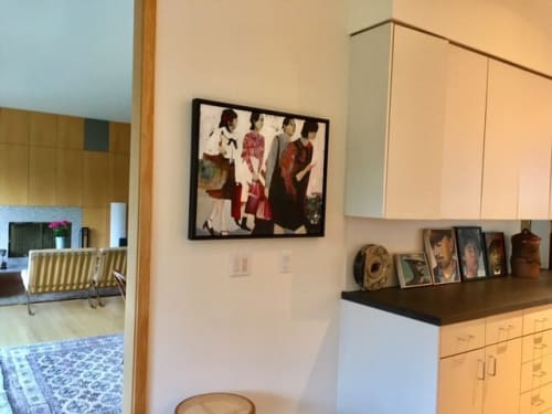 Paintings by Ruth Shively seen at Private Residence, Portland - Girls Shopping in Japan