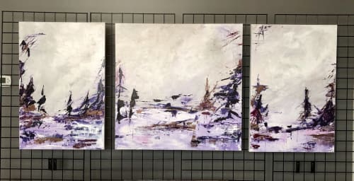 Paintings by Mireille Laroche seen at Creator's Studio, Ottawa - A Day at the Lake 1