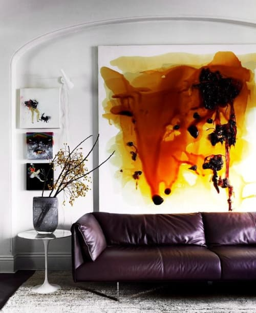Paintings by Dale Frank seen at Private Residence, Sydney - Contemporary art