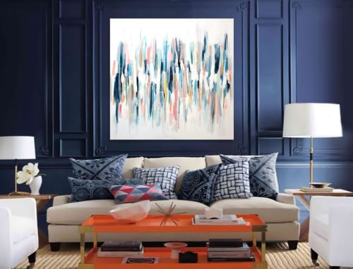 Paintings by Linnea Heide contemporary fine art seen at Private Residence, Albuquerque - 'REEF' original abstract painting by Linnea Heide