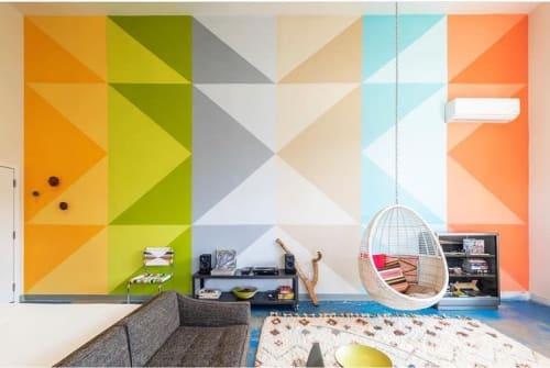 Murals by Xio Design Studio seen at Private Residence, Joshua Tree - Indoor mural