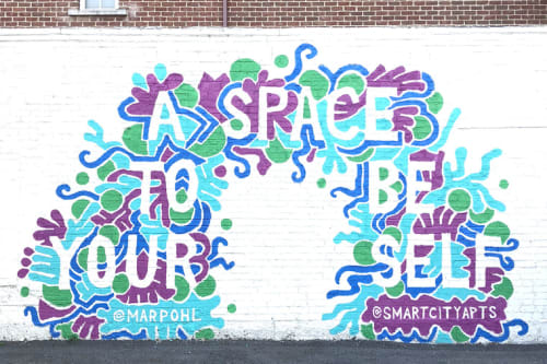 Street Murals by Mariel Pohlman at 1619 N Hall St, Dallas - A Space to be Yourself