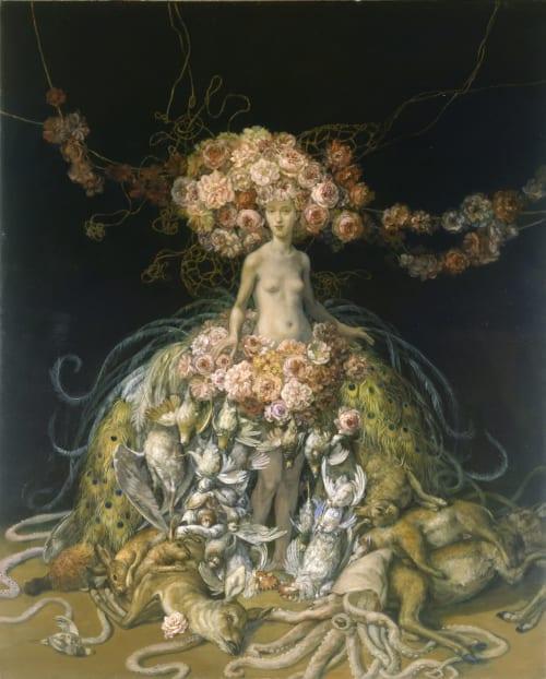 Paintings by Julie Heffernan seen at Private Residence, New York - Self-Portrait as Post Script