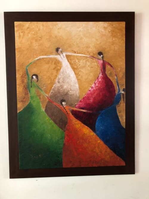 Paintings by Monterroso Studio seen at Private Residence, Guatemala City - Senoritas