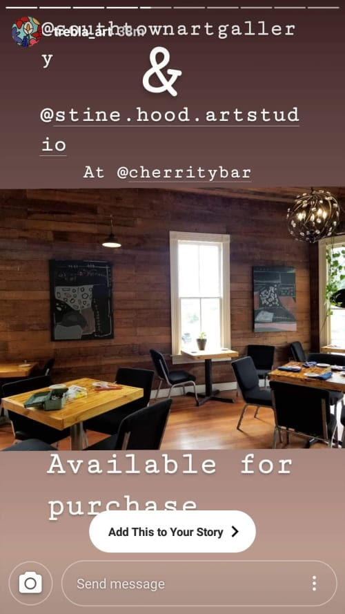 Paintings by Brooke Hood seen at The Cherrity Bar, San Antonio - Abstract Art, Nature Abstract