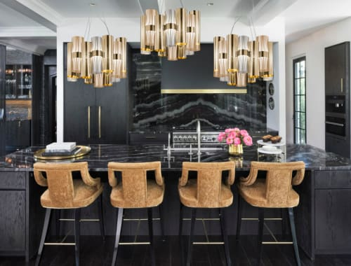 Chandeliers by Lorenza Bozzoli seen at Private Residence, Edina - La Lollo Gold