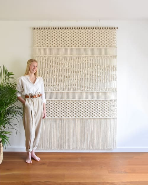 Macrame Wall Hanging by Tamar Samplonius seen at Private Residence, Amsterdam - PATH OF LIFE