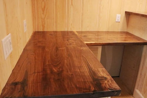 Tables by Urban Timber Harvest seen at Private Residence, Fort Worth - Walnut Counters