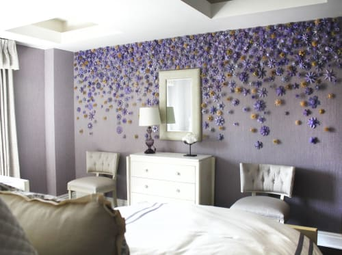 Art & Wall Decor by Carson Fox Studio seen at Private Residence, New York - Violet Flower