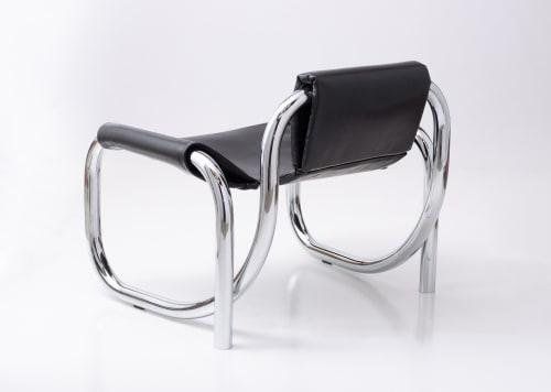 Chairs by Atelier de Troupe seen at Milan Design Week 2019, Milan - Coda Lounge Chair