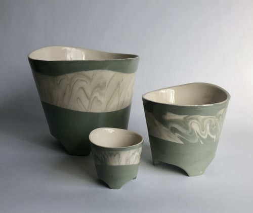 Vases & Vessels by Matt Scott seen at Private Residence, Vancouver - Tripod Planters