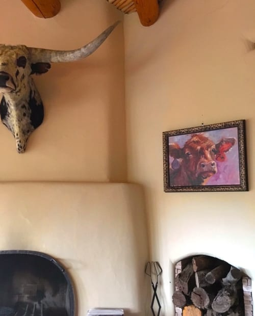 Paintings by Sonja Caywood seen at Private Residence - Cowgirl Up Quick Draw painting
