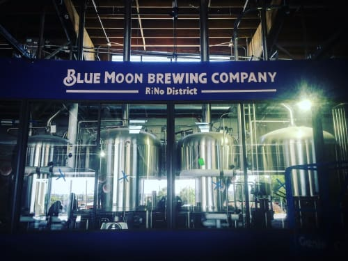 Signage by Bobby MaGee Lopez seen at Blue Moon Brewing Company, Denver - Blue Moon