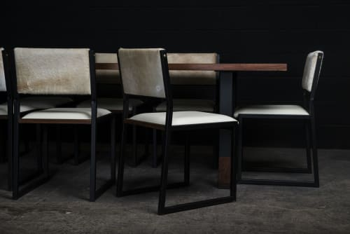 Chairs by AMBROZIA seen at Private Residence, Park City - Shaker Modern Chair | Palomino Cowhide & Bone Leather