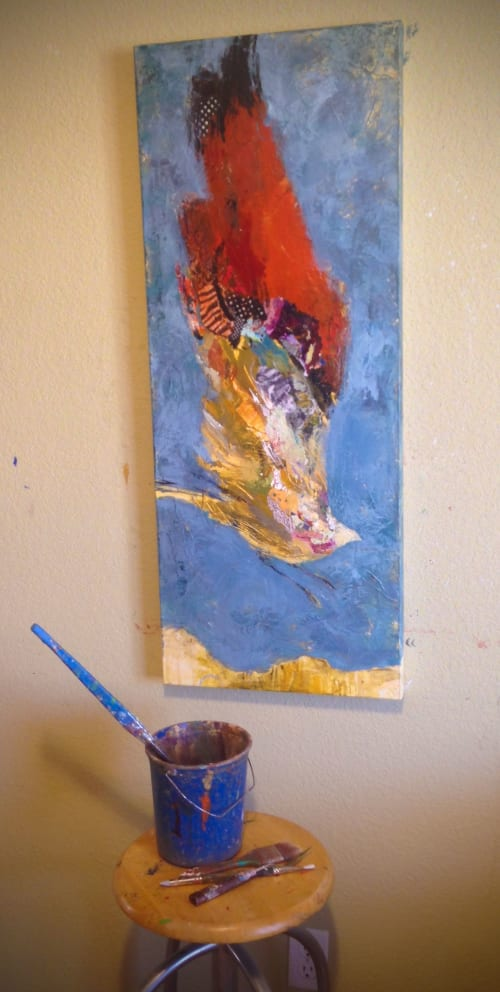 Paintings by Shelli Walters Studio seen at Private Residence - Bend, OR, Bend - Leap Painting