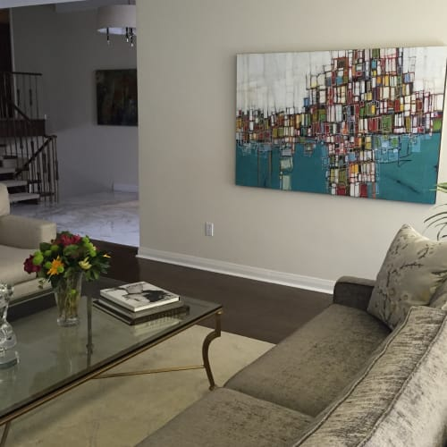 Paintings by Lori Mirabelli seen at Private Residence, Toronto - Art painting