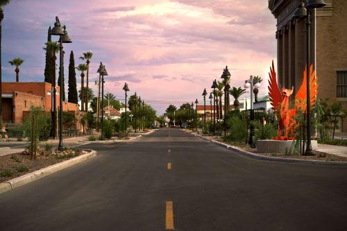 Public Sculptures by Creative Machines seen at South Scott Avenue, Tucson - Toby