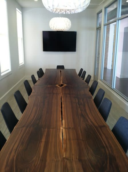 Tables by Jason Lees Design seen at San Francisco, San Francisco - Custom Live-Edge Walnut Conference Table