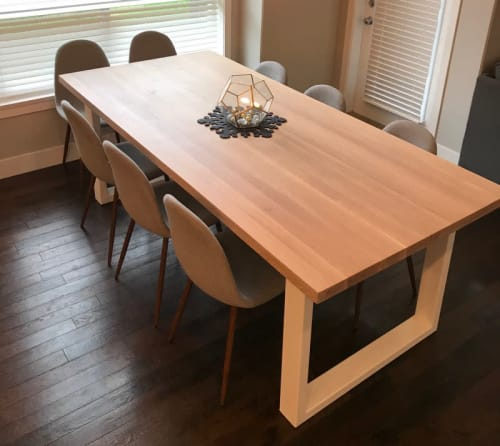 Tables by Toncha Hardwood seen at Private Residence, Vancouver - European White Oak Dining Table