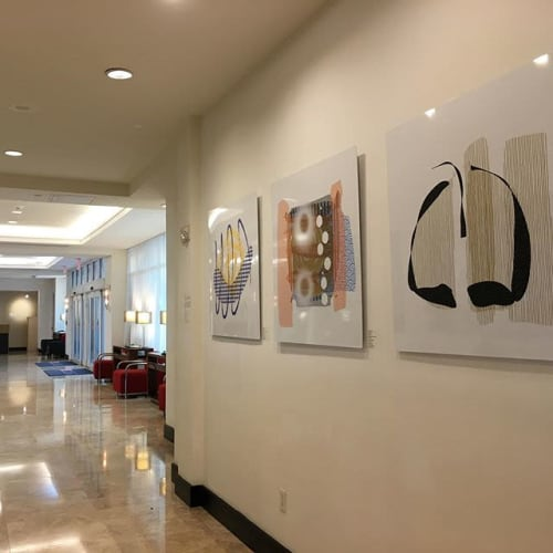 Art Curation by Lee Brock Art and Graphic Designs seen at GALLERYone - a DoubleTree Suites by Hilton Hotel, Fort Lauderdale - FLOW Exhibition