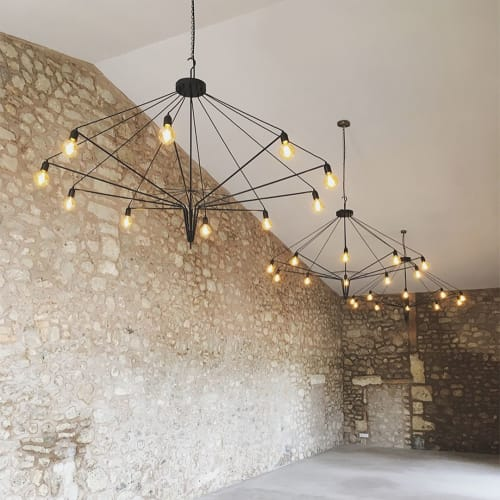 Chandeliers by 2MONOS STUDIO seen at Finca Tagamanent, Sant Joan - Contemporary Chandelier