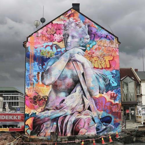 Street Murals by PichiAvo seen at Drammen, Drammen - Gaia