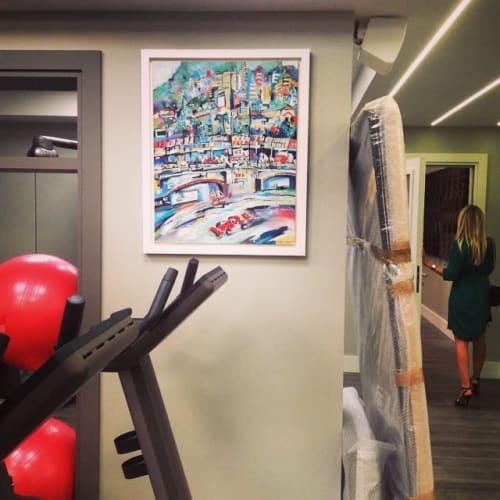 Paintings by Anna-Louise Felstead seen at Thirty-Nine Monte-Carlo, Monaco - Grandprix