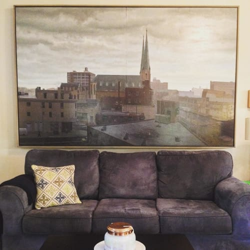 Paintings by Mike East seen at Private Residence, Louisville - Philadelphia Cityscape