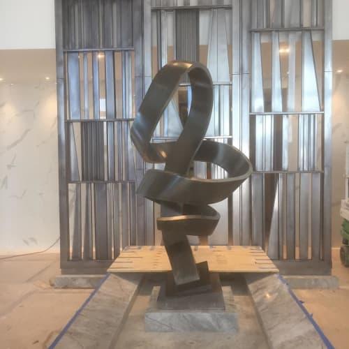 Sculptures by Mark Castator seen at Marina Palms Yacht Club & Residences, North Miami Beach - Prana