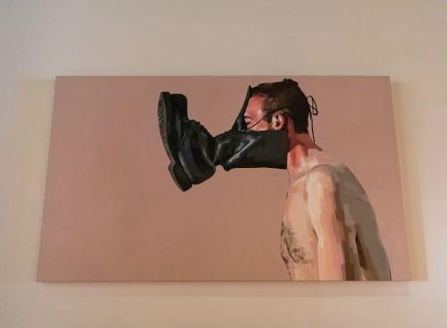 Paintings by Juan Monroy seen at Mister Jiu's, San Francisco - Boot 1