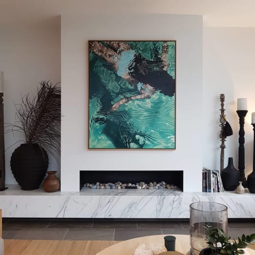 Paintings by Amanda Cameron seen at Private Residence, Sydney - Commissioned Painting