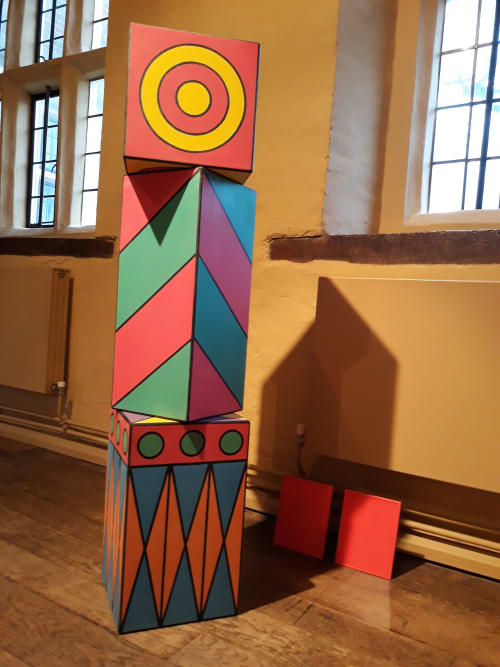 Public Sculptures by Stephen Jaques seen at Eastbury Manor House, Barking - Proteus