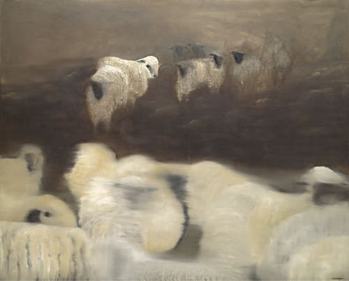 Paintings by Meagan Donegan seen at Private Residence, Allendale, Oakland, Oakland - Sheep
