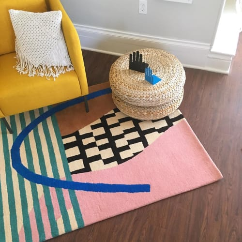 Rugs by Chad Kouri seen at Private Residence, Detroit - Geo Rug